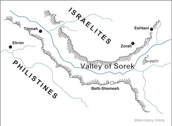 THE VALLEY OF SOREK. Judges 16:4 (3/4)